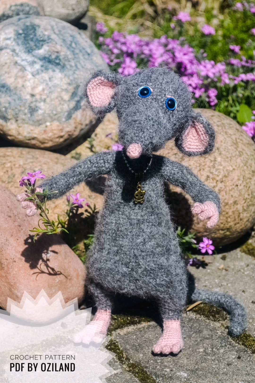 Photo of Häkeln Sie Amigurumi Muster: Macaroni The Rat Spielzeug von oZiLand #crochet #pattern #rat #ratatouille #diy
