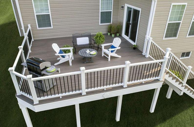 Deck Color Schemes For Modern And Rustic Homes Deck Colors Composite Decking Colors Deck Renovation