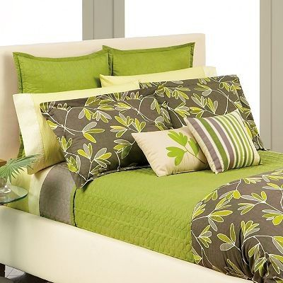 Apt 9 Thyme Coverlet Modern Quilts Green Bedding Bedroom