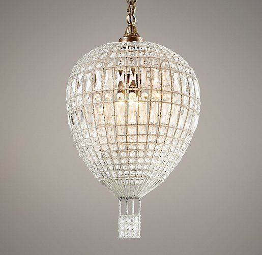Hot air balloon crystal pendant chandeliers restoration hot air balloon crystal pendant chandeliers restoration hardware baby child mozeypictures Images
