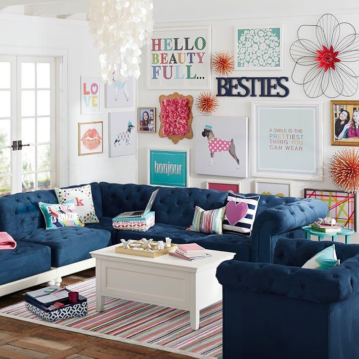 Boxer Wall Art, Pink Dottie | Kids living rooms, Kids ...