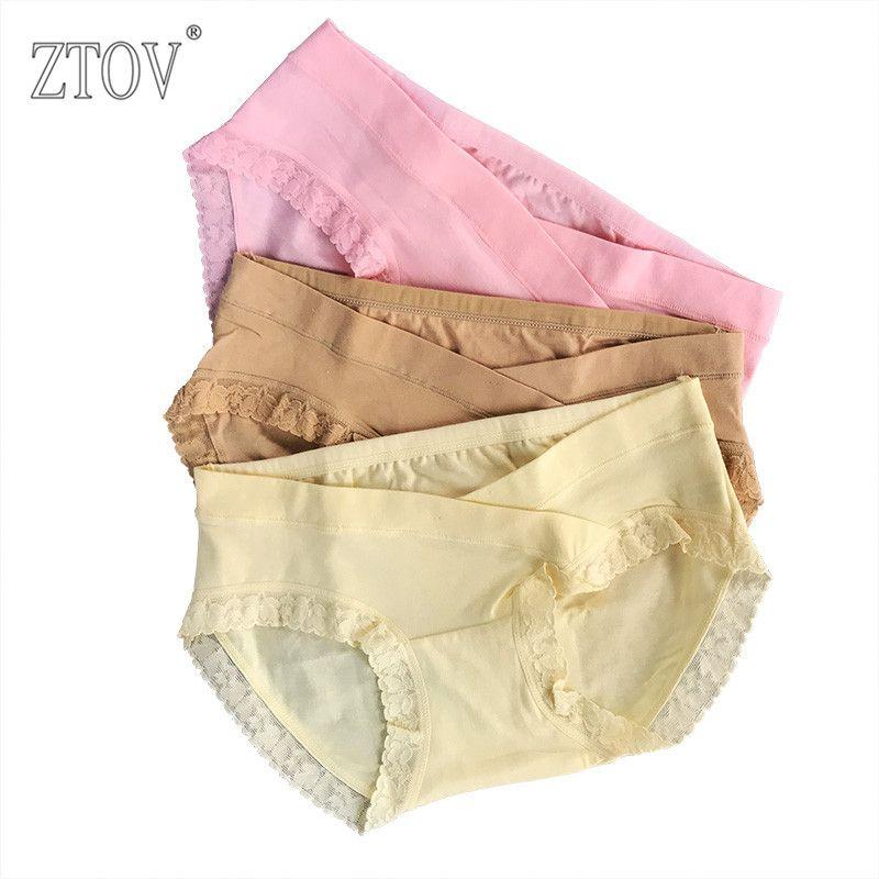 ef967850d47 3Pcs lot Lace Maternity Briefs Low Waist Pregnancy Women Underwear Panties  For Pregnant women Plus size Underwear Shorts