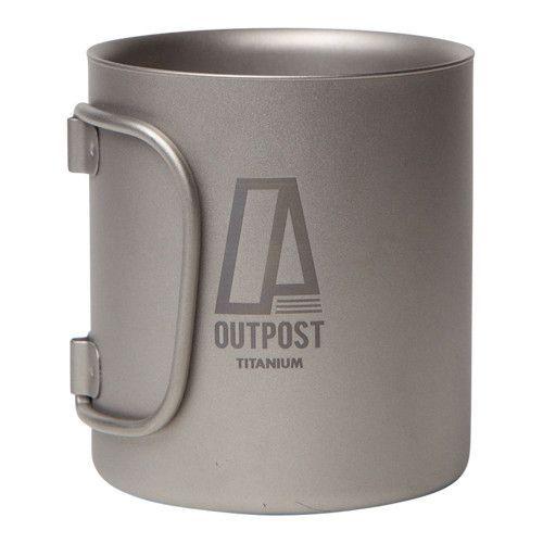 20 oz. Double Wall Titanium Mug by Outpost Titanium