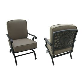 Superior $325 Garden Treasures Set Of 2 Willow Pass Extruded Aluminum Patio Rocking  Chair With Solid Tan