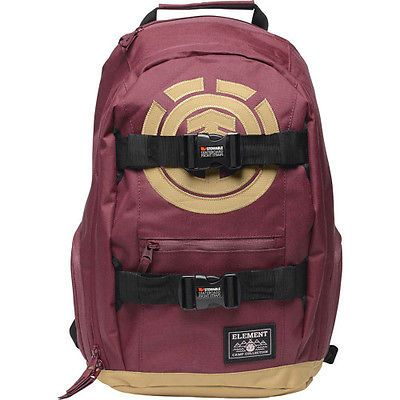 4b794f456bb7 Other Skateboarding Clothing 159079  Element Mohave Mens Rucksack Skate  Backpack - Napa Red One Size -  BUY IT NOW ONLY   53.62 on eBay!