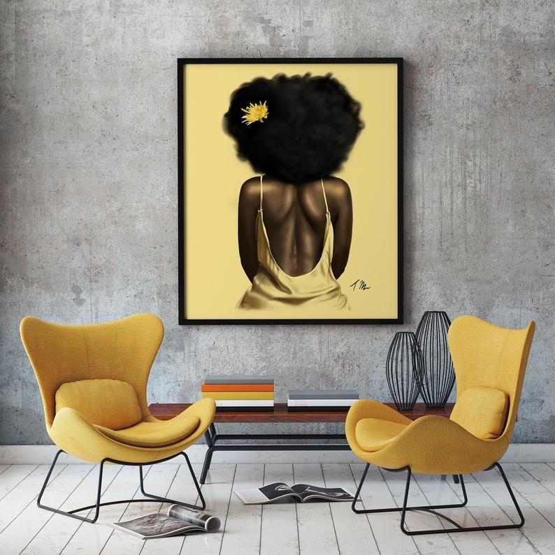 Glow African American Wall Art Prints Black Girl Magic Etsy In 2020 African American Wall Art Black Art Painting Wall Art Prints