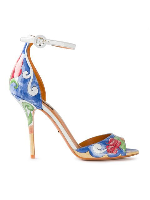 Shop Dolce & Gabbana 'Keira Majolica' print sandals in Boutique Mantovani from the world's best independent boutiques at farfetch.com. Over 1000 designers from 300 boutiques in one website.
