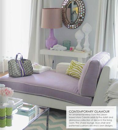 Living Room Home Decor Interior Design Adore Magazine Chevron Rug