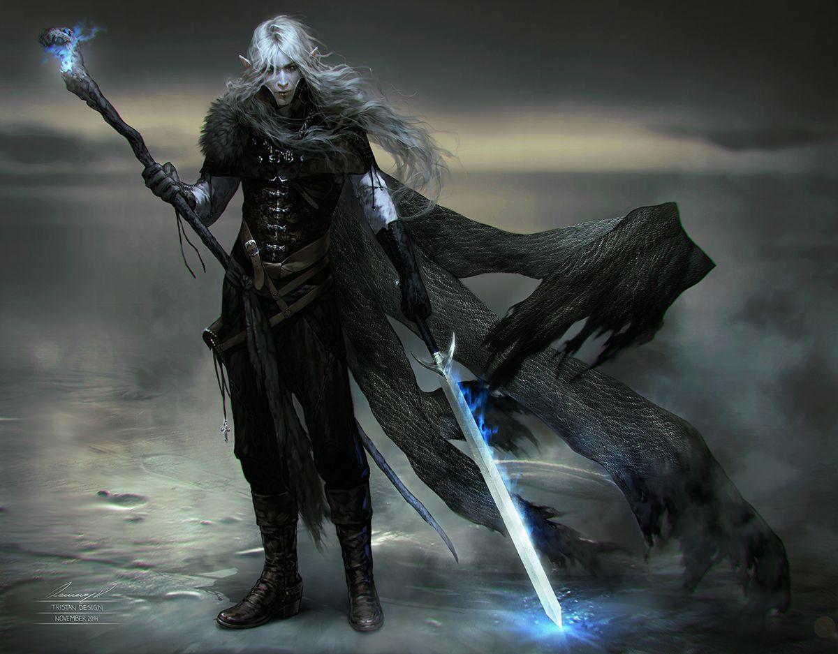 Warlocks Dragons: The Hunt By Tincek-marincek Drow Dark Elf Vampire