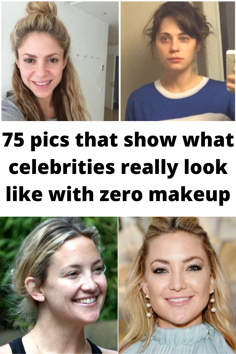 75 #pics that show what #celebrities really #look like with zero #makeup