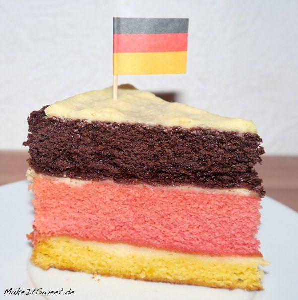 Deutschland torte rezept zur wm oder em leckere for Kuchen in deutschland