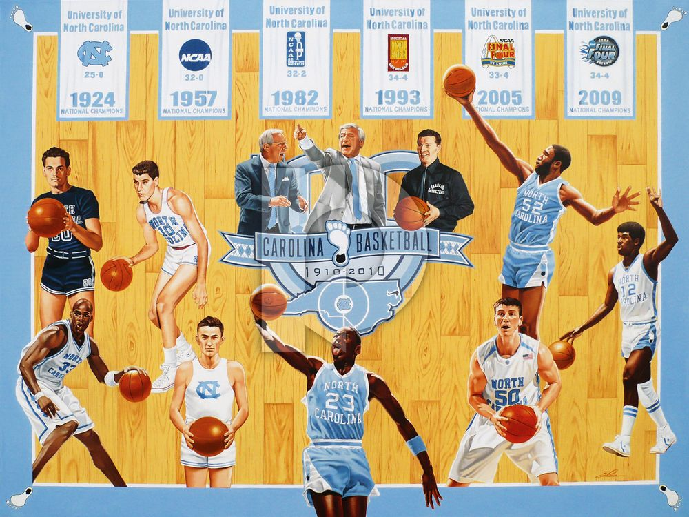 1982 Unc Basketball Roster University Of North Carolina 100th Anniversary Collection Special University Of North Carolina North Carolina Unc Tarheels