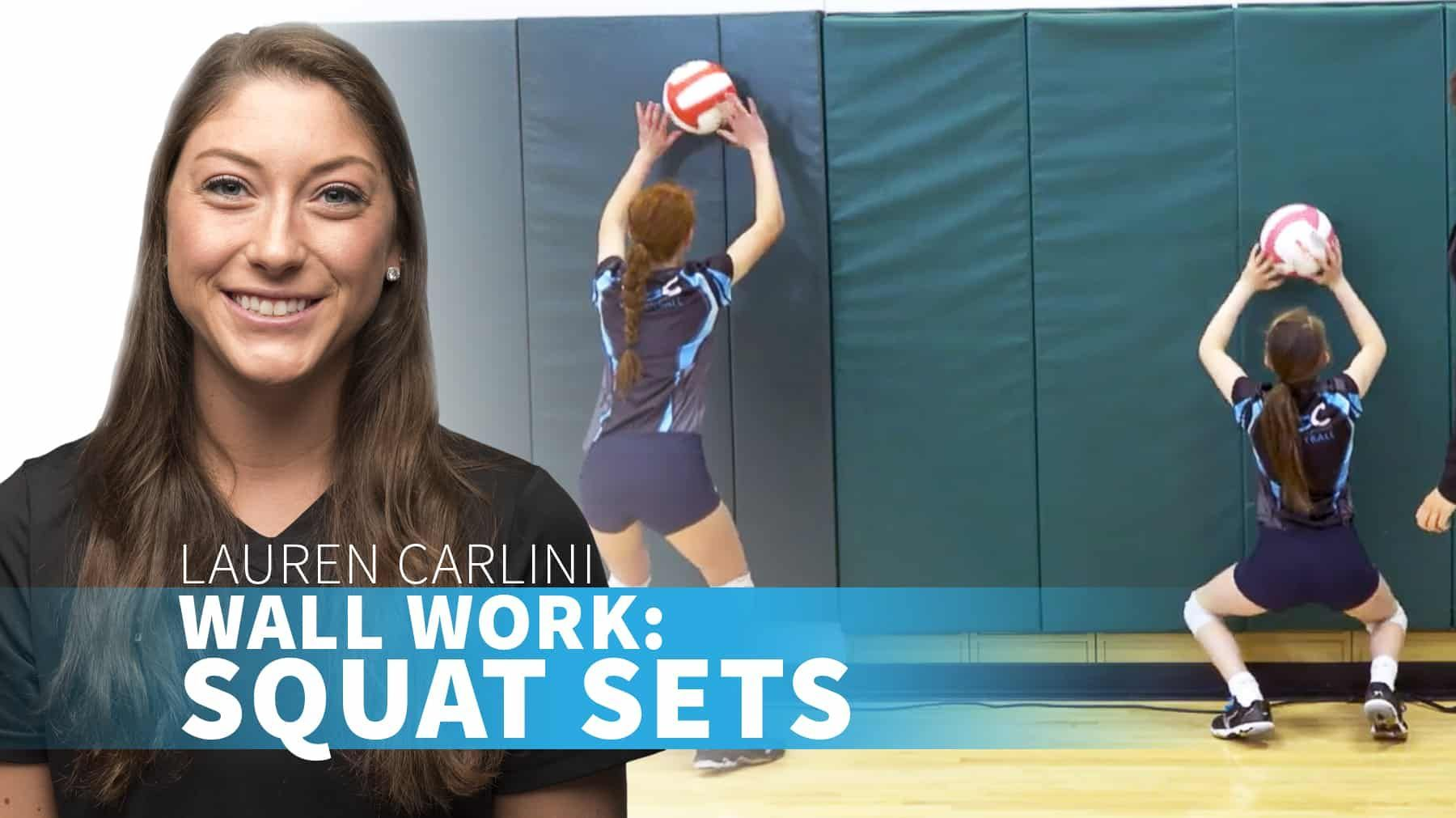 Wall Work Squat Sets Coaching Volleyball Volleyball Drills For Beginners Volleyball Training