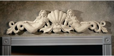 Save Mermaid Architectural Wall Pediment For A Grotto Imagine A Wonderful Small Feature In Backyard W M Mermaid Wall Art Mermaid Wall Decor Mermaid Statues