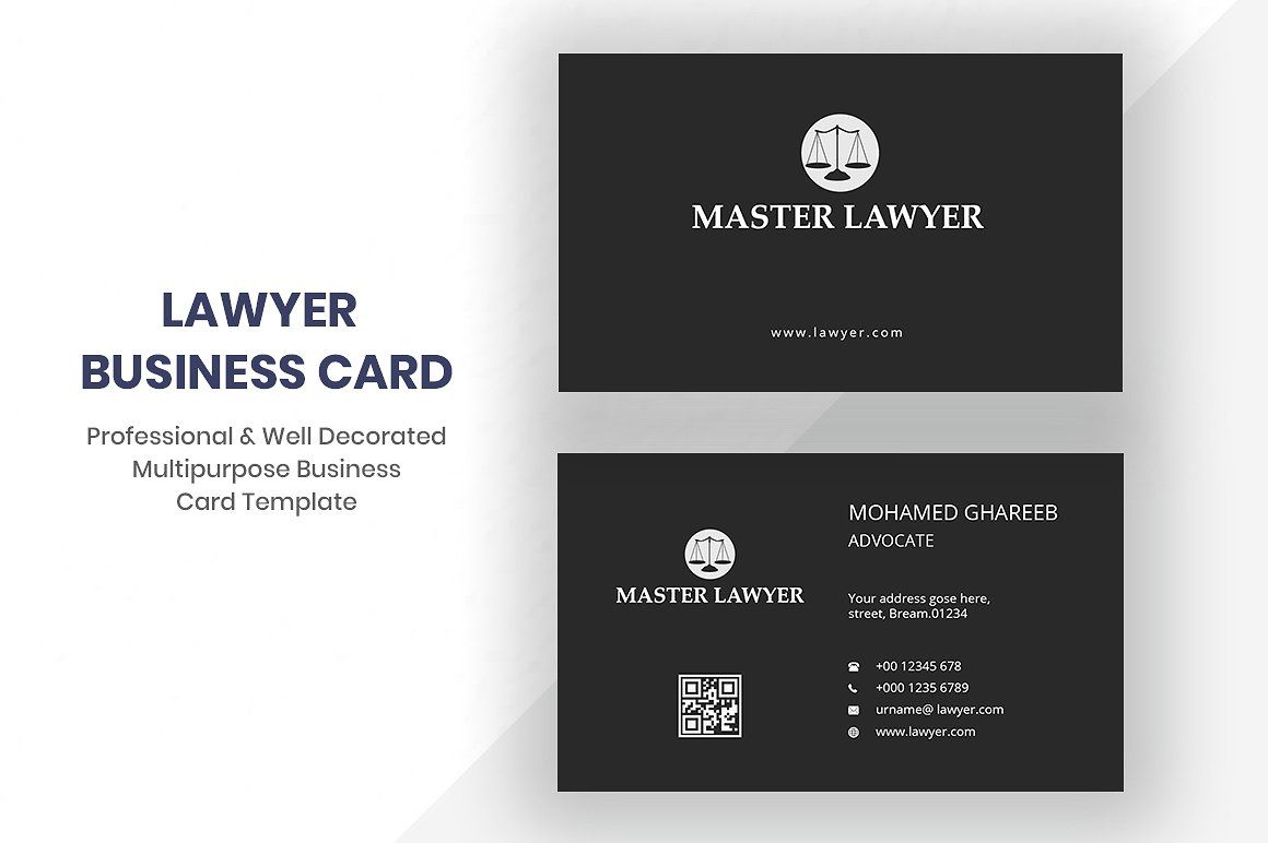 Lawyer Business Card Lawyer Business Card Business Card Template Design Business Cards Creative Templates