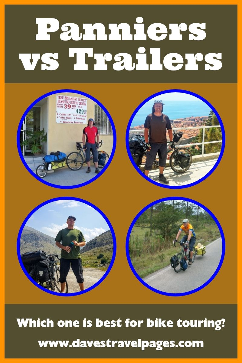 Touring Panniers Vs Bicycle Touring Trailer Which Is Best