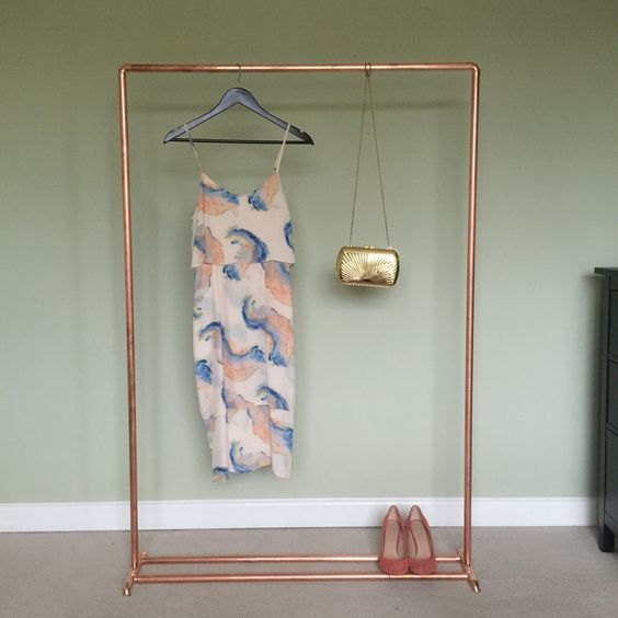 Rose Fashion Store Home: Copper Clothes Rail / Rose Gold / Industrial By