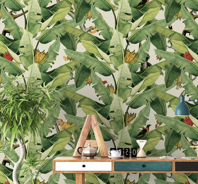 Jungle Fever Wallpaper Papier Peint Plant Leaves