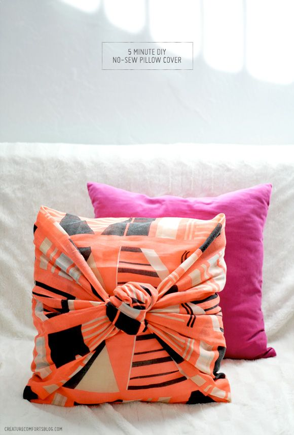 40 Minute DIY NoSew Decorative Pillow Cover DIY And Freebies Inspiration No Sew Decorative Pillows