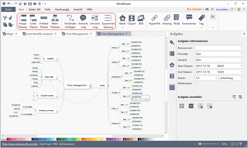 Captivating Aufgaben Management In MindMaster | MindMaster Software Funktionen |  Pinterest | Management
