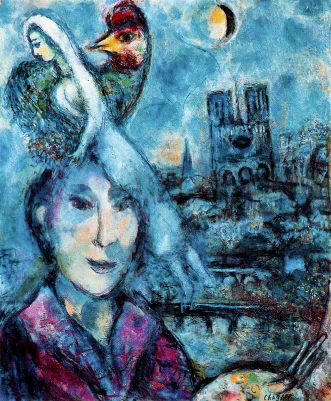 marc chagall paintings | Self-Portrait - Marc Chagall ...