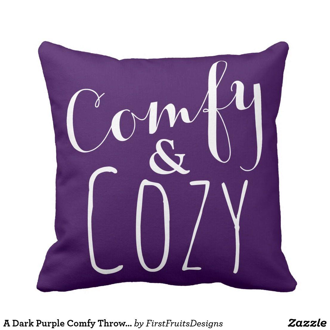 Cool A Dark Purple Comfy Throw Pillow Cozy Home Decor Zazzle Download Free Architecture Designs Saprecsunscenecom