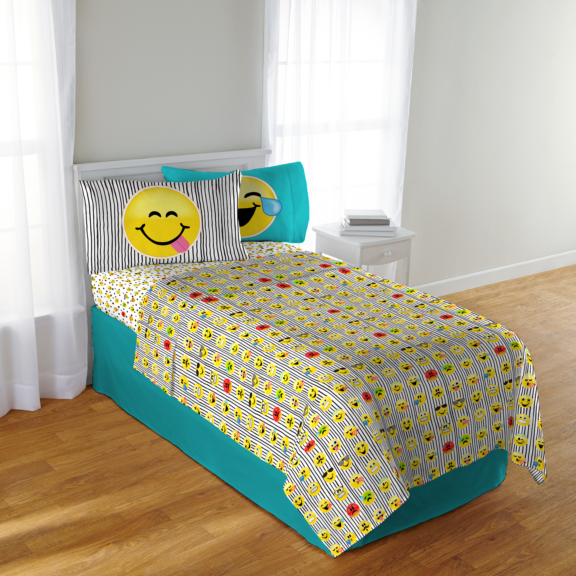 Emoji Pillowcase Multi Bed Spread Bed Sheets Kids