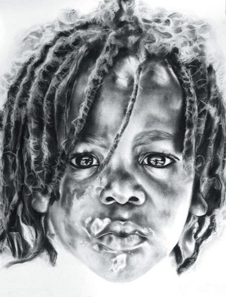 Marie stander art work south african artistsfigurativeart workpencil
