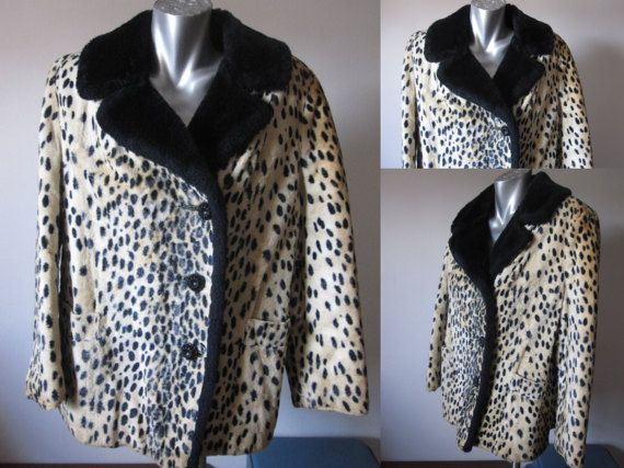 Vintage 50s Cheetah Animal Printed Jacket with Black by retrovous