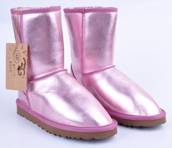 Pink metallic Uggs. | My Favorite Color PINK | Pinterest | Snow boot, Outlets and Uggs