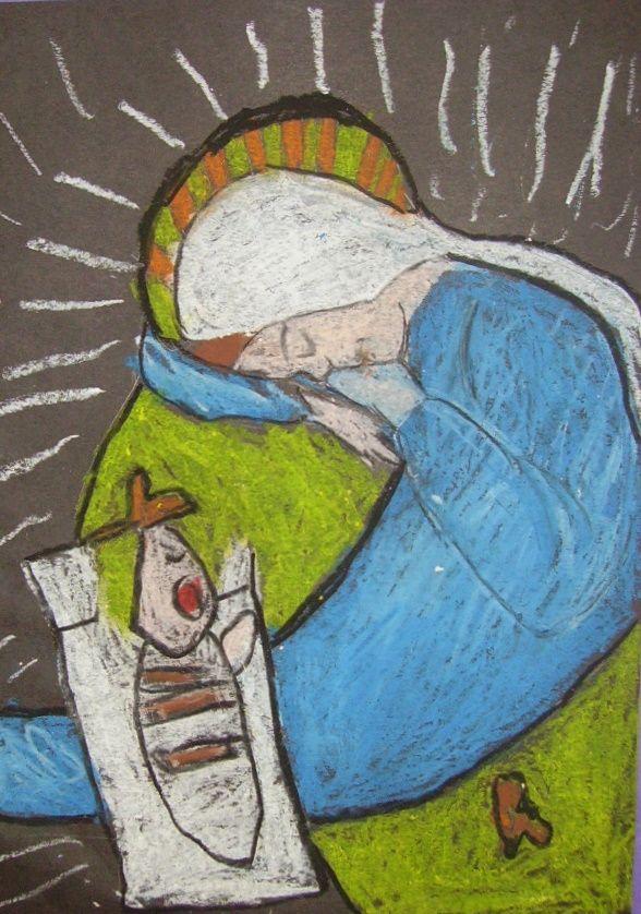 Kids & Glitter  Mary and Jesus