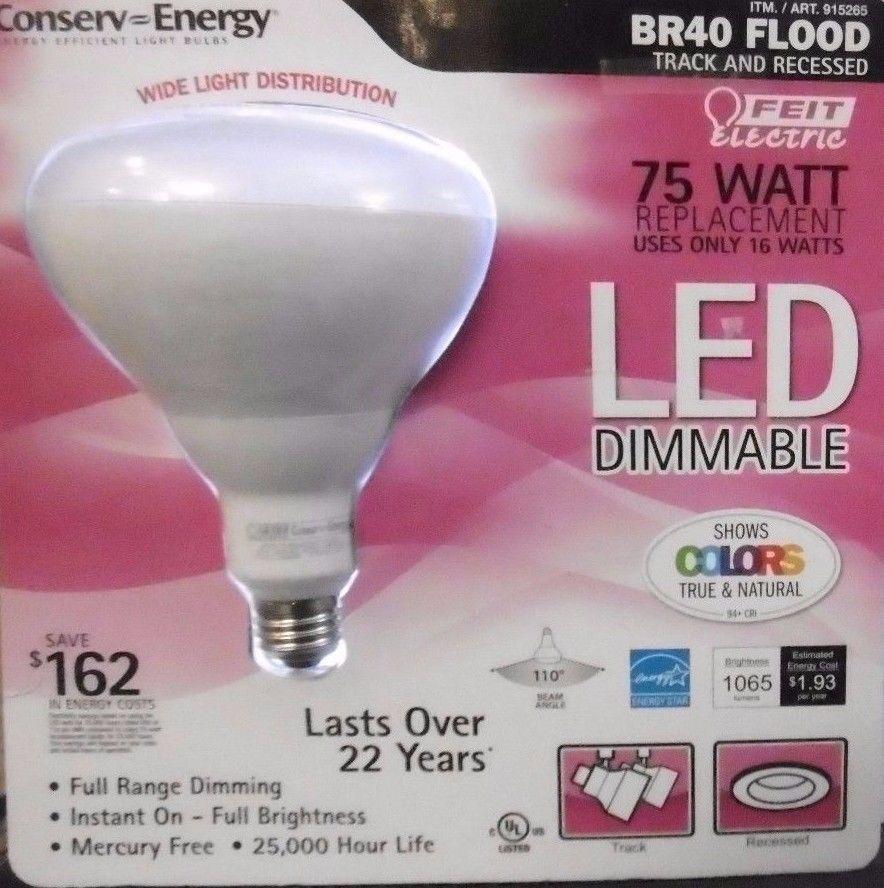 Br40 75w Led Flood Bulb Feit Dimmable 1065 Lumens Bright Instant On 75 Watt B12 Feitelectric Led Flood Led Bulb