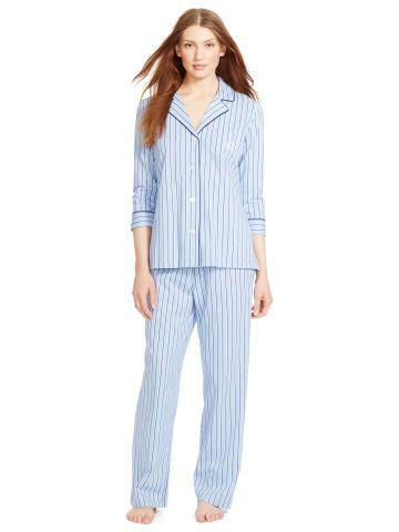 Lauren Cotton Jersey Pajama Set - Lauren Sleep Shirts 17154dc76