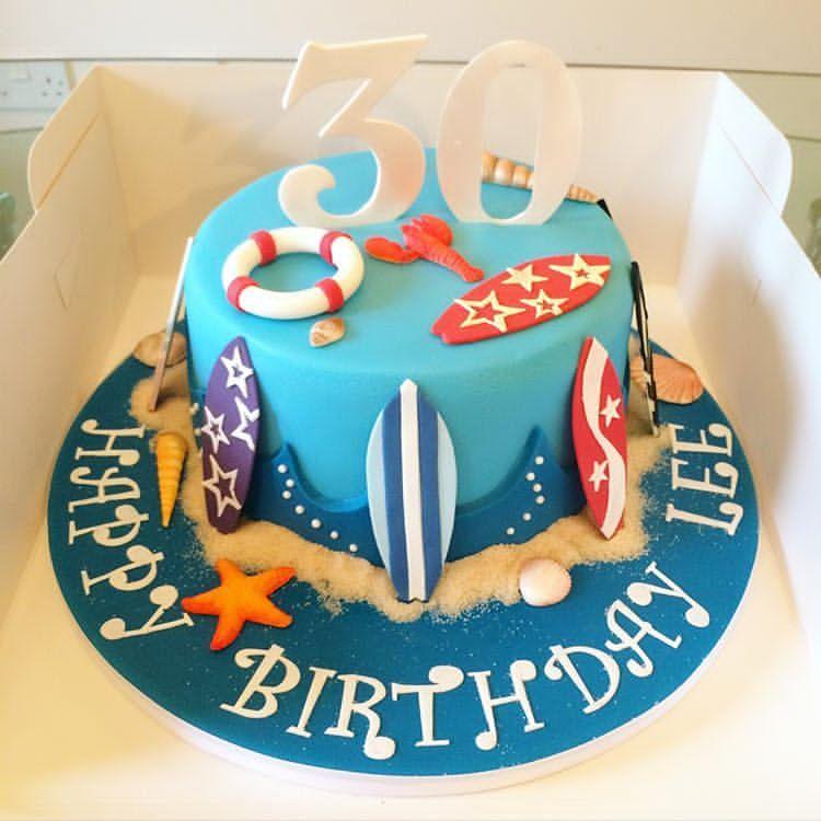 Surprising Surfboard Birthday Cake I Made Lydiaclarescakes Instacake Personalised Birthday Cards Petedlily Jamesorg