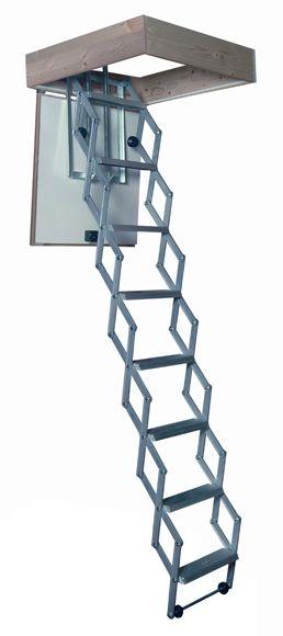 Escalera escamoteable tijera aluminio ref 169801 leroy merlin aluminio pinterest - Escalera caracol leroy merlin ...