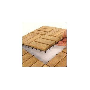 Interlocking Teak Flooring Tiles