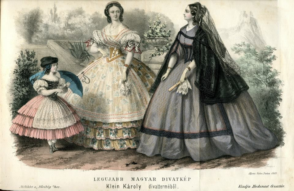 Fashion in Hungary, 1860
