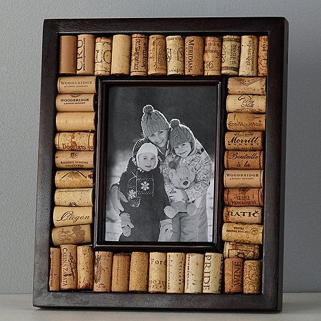 Wine Cork Picture Frame Kit 5x7 Photo Espresso Finish At Wine