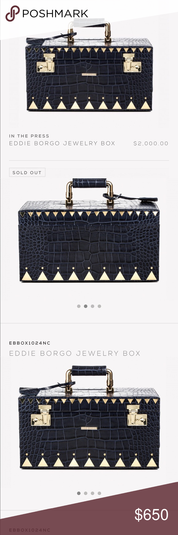 Eddie Borgo Luxury Jewelry Box Eddie borgo Luxury and Navy