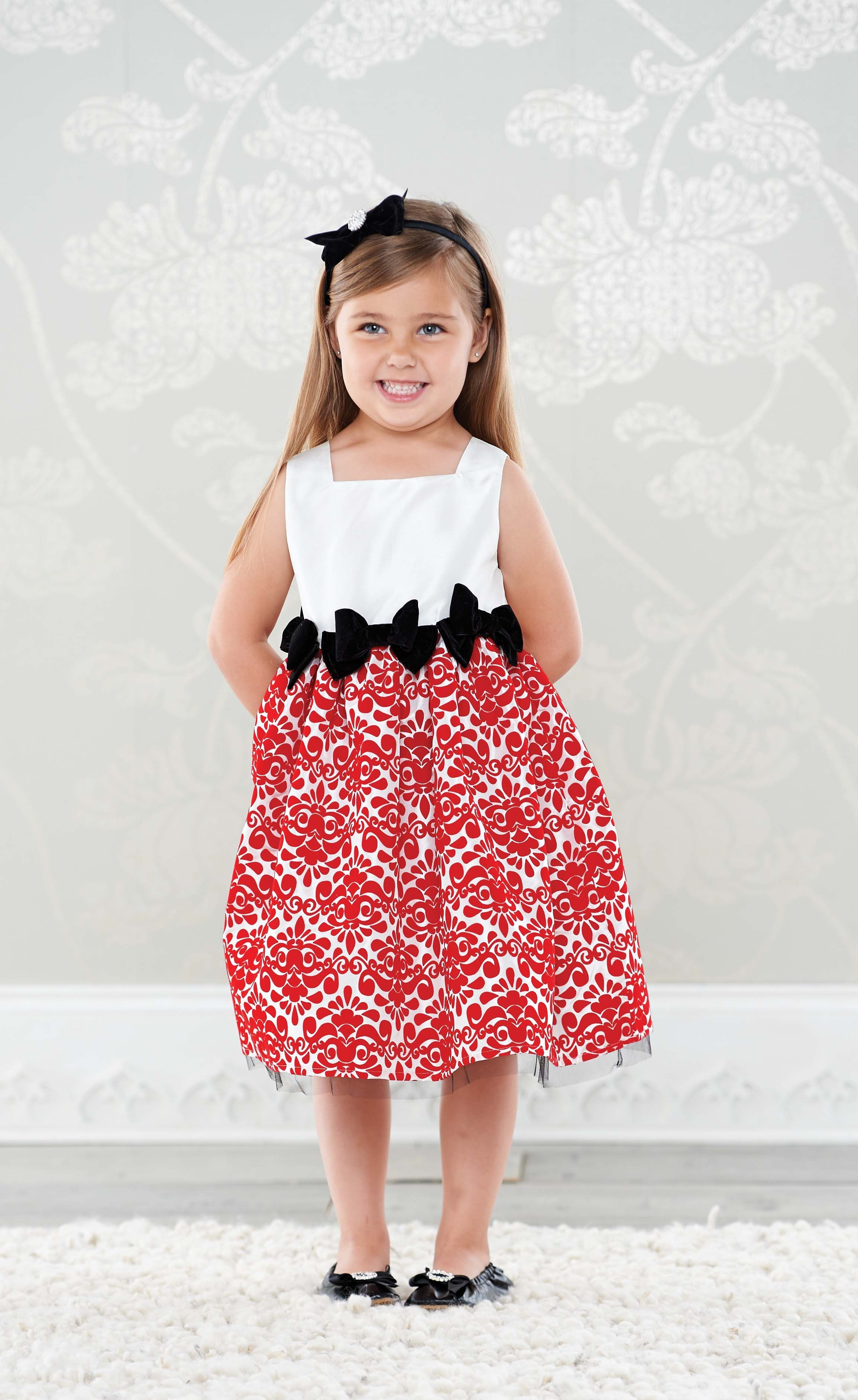 Red damask dress christmas preorder pinterest