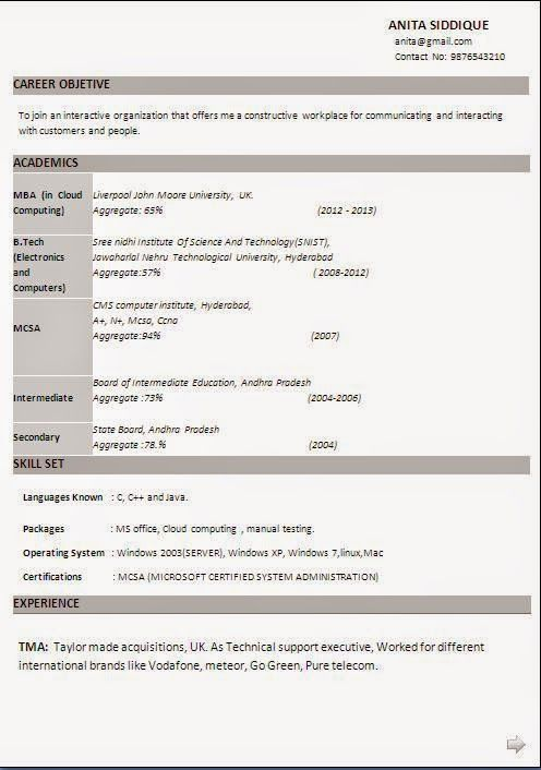 example of a perfect cv Sample Template Example ofExcellent - cloud computing resume