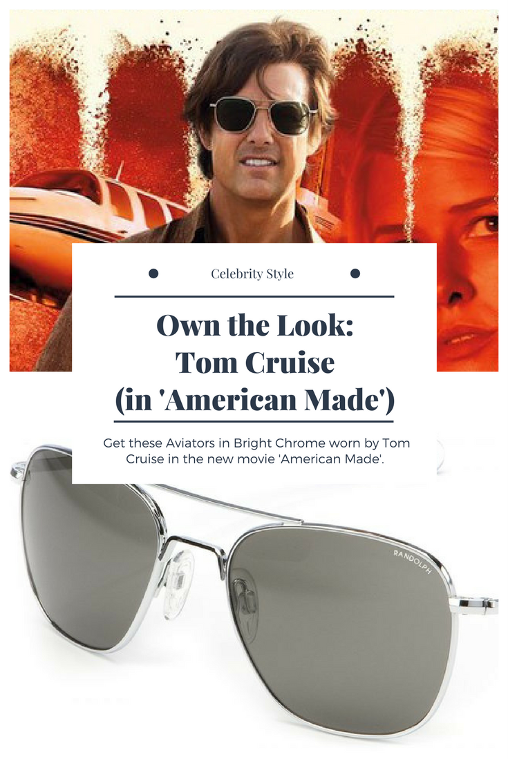 Own the sunglasses worn by Tom Cruise in the movie  American Made . Photo   Universal 4e658dde0731