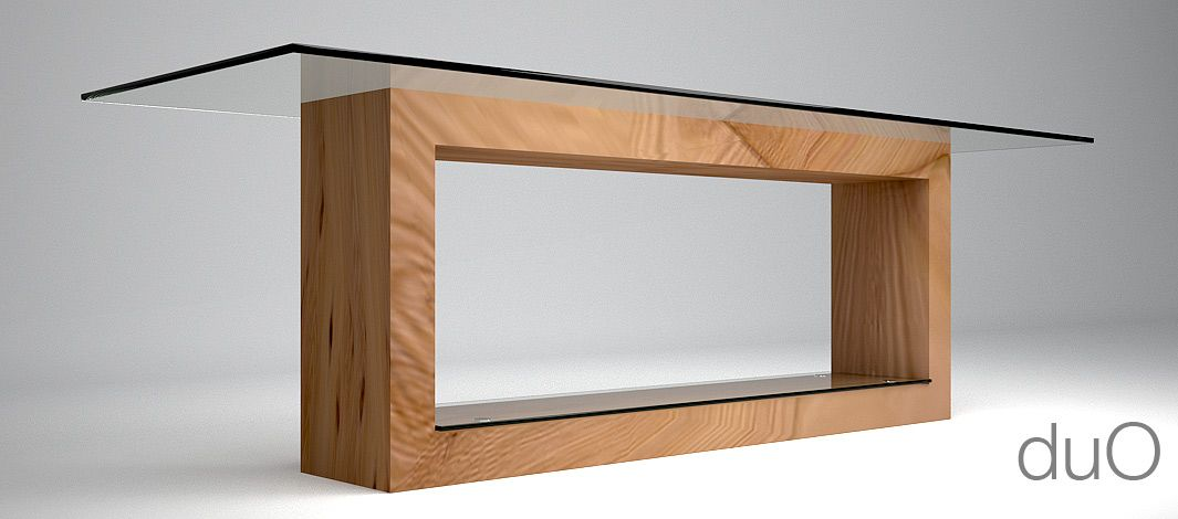 Tavolo in legno e cristallo studio di architettura e for Tavolo cristallo e legno