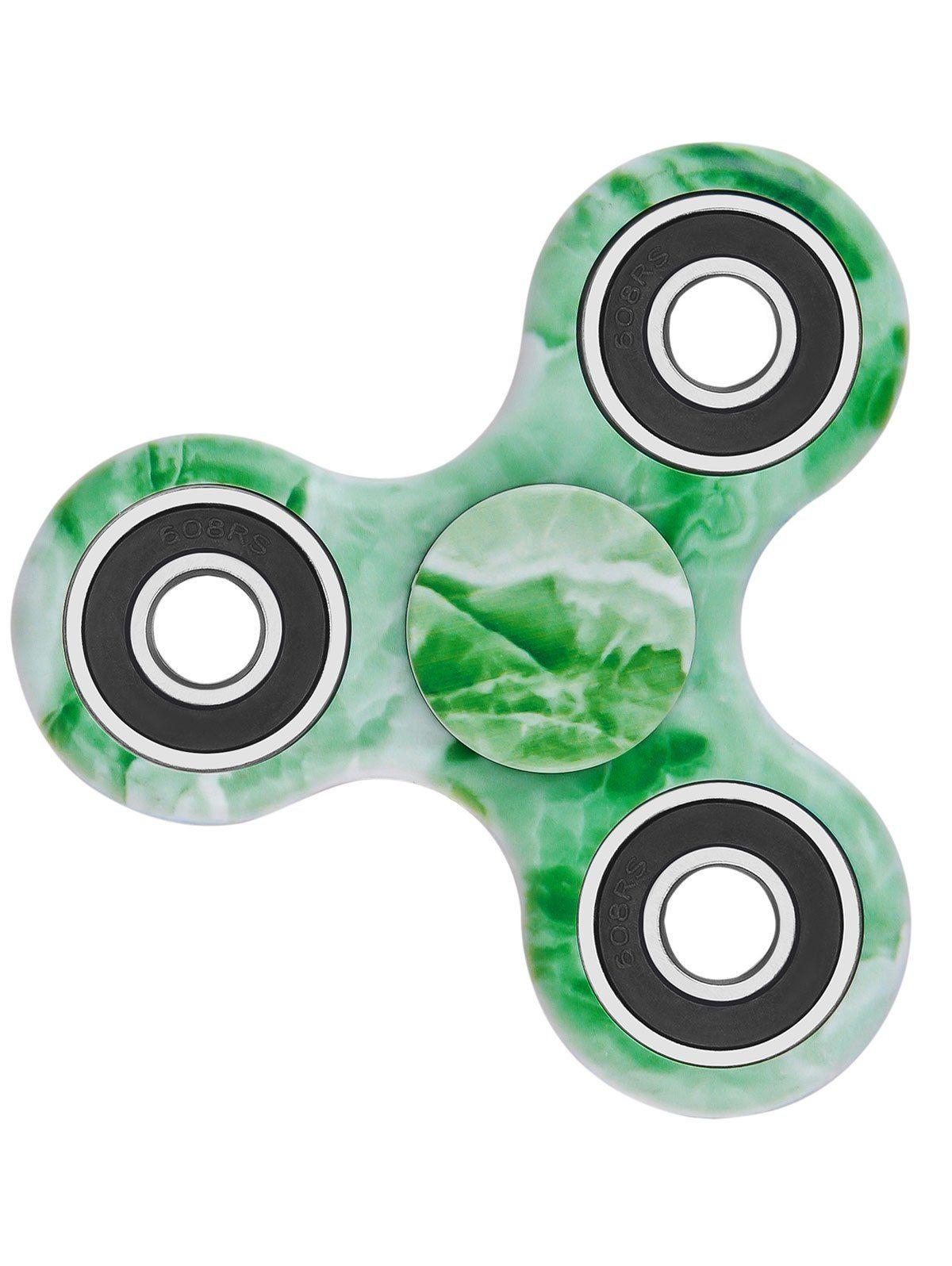 Star Sky Print Stress Relief Focus Toy Fidget Spinner - GREEN