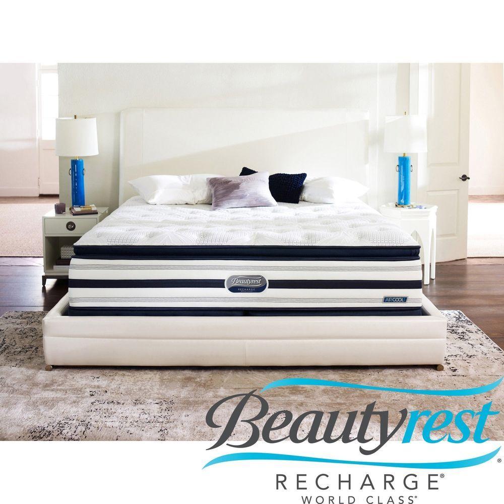 beautyrest recharge world class. Beautyrest Recharge World Class Rekindle Luxury Firm Super Pillow Top King-size Mattress Set S