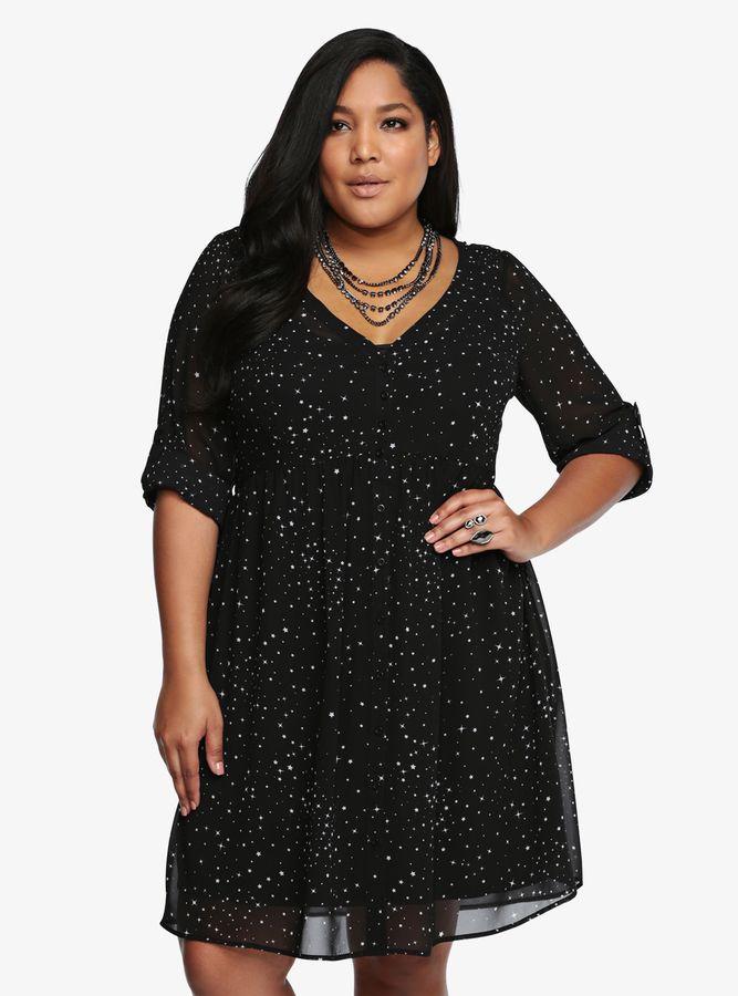 70d78ee99a8 Torrid Star Print Shirt Dress