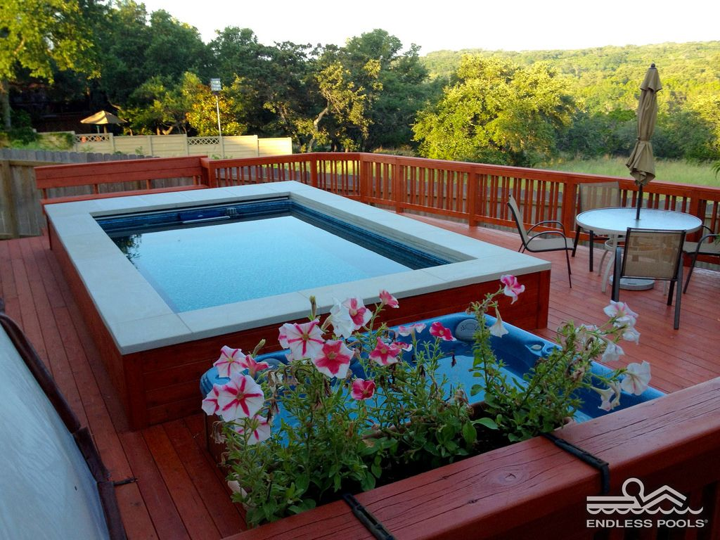 Endless Pool Cost >> Endless Pool With Petunias
