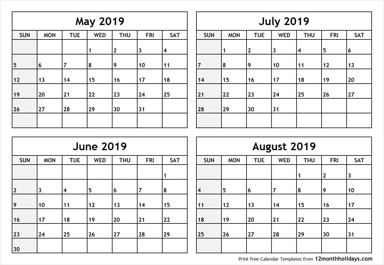 May June July 2019 Calendar July Calendar