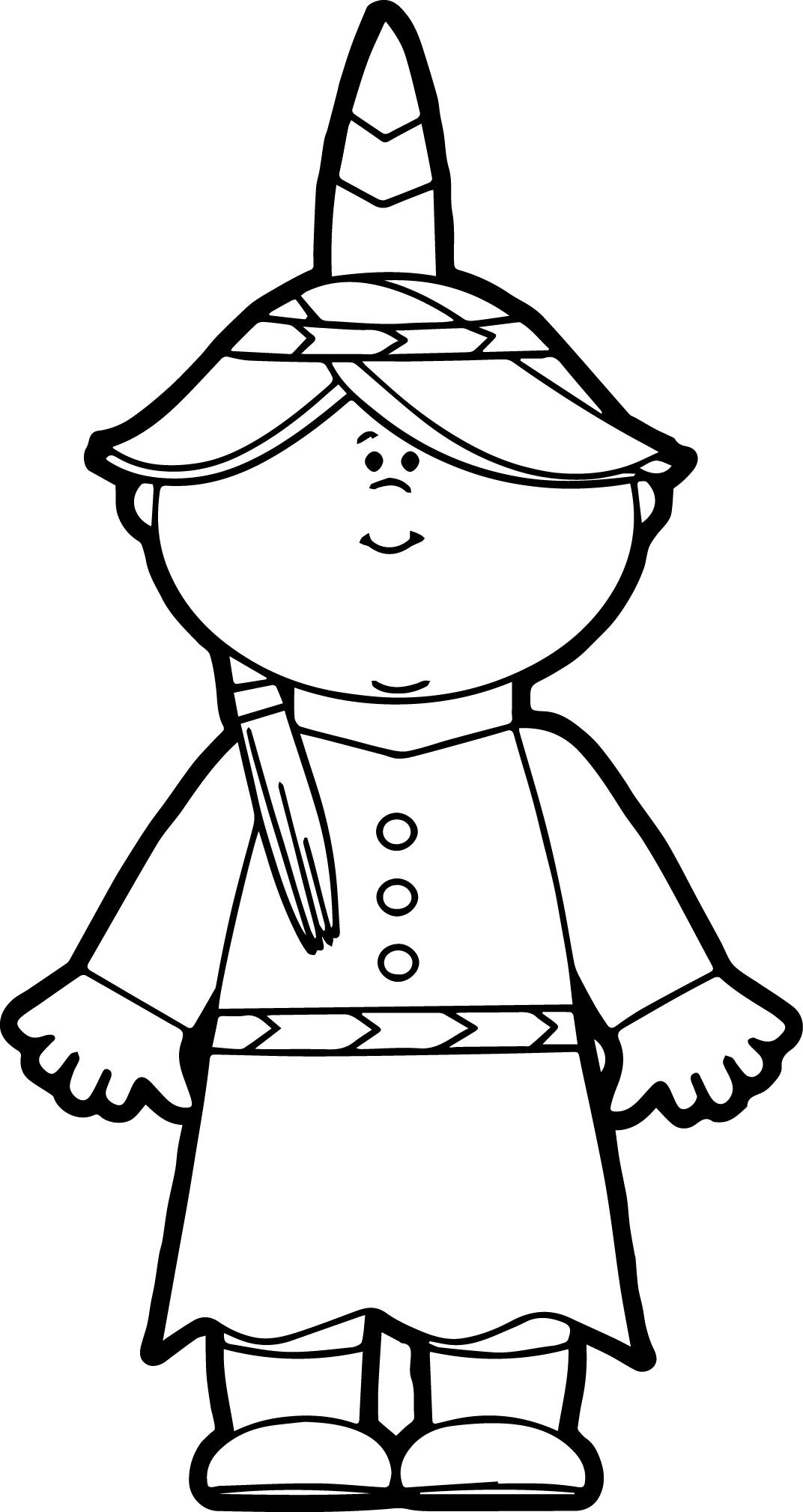 Native American Indian Girl Coloring Page | wecoloringpage ...