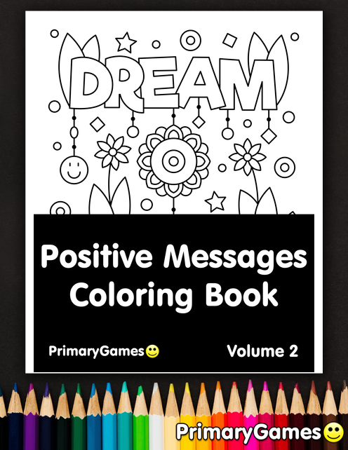 Positive Messages Coloring eBook: Volume 2 • FREE ...